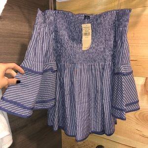Women's strapless peplum shirt ✨